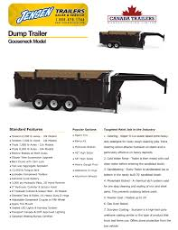 gooseneck or fifth wheel deck over dump trailers for sale ontario