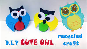 diy cute owl from toilet paper roll craft for kids recycled