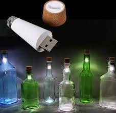 cork shaped rechargeable bottle light cork shaped rechargeable usb led night light empty wine bottle l