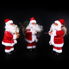 santa claus electric toys decorations for