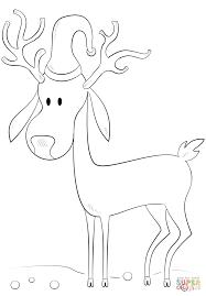 cartoon reindeer coloring page free printable coloring pages