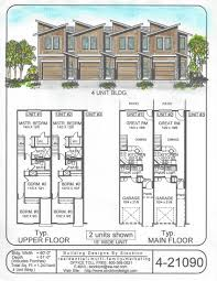4 plex skinny units apartment house plan ideas pinterest