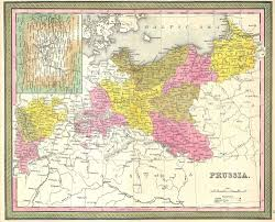 Maps Of Germany by File 1850 Mitchell Map Of Prussia Germany Geographicus Prussia
