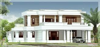 kerala home design villa 4 bedroom flat roof style house 2200 sq ft kerala home design