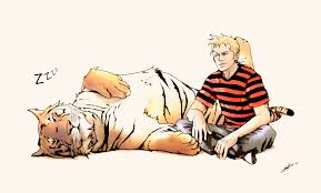 nostalgic calvin and hobbes fan art