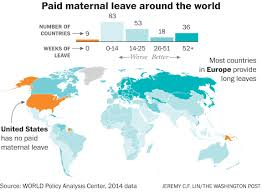 Map Of Ucla The World Is Getting Better At Paid Maternity Leave The U S Is