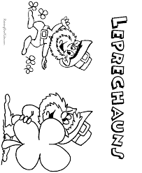leprechaun picture to color for leprechaun story for kids