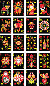 russian folk limited edition cards the court cards