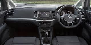 volkswagen minivan 2016 interior volkswagen sharan interior practicality and infotainment carwow
