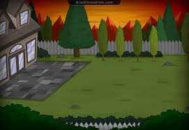 Backyard Cartoon Home Back Yard Game Background Enviroment Design 001 U2013 Brad