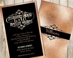 and black wedding invitations invitations by joyinvitations on etsy