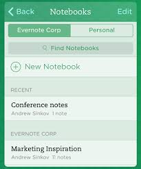 Business Card Evernote Evernote For Iphone And Ipad Get Notebook And Business Card