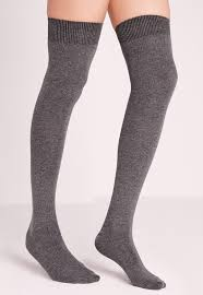 phiphi knee socks grey missguided