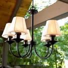 Garden Oasis Electric Chandelier - contemporary - outdoor lighting ...