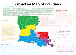 Louisiana Map Of Parishes by Subjective Map Of Michigan Oc 1744 X 1522 Mapporn