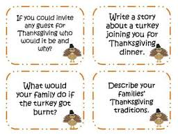 60 thanksgiving writing prompts and story starter task cards by