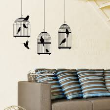 aliexpress com buy bird cages wall sticker modern birds cage aliexpress com buy bird cages wall sticker modern birds cage wall decal diy removable birds cage wall decoration cut vinyl stickers m53 from reliable