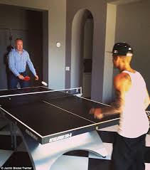 silver extreme ping pong table price justin bieber enjoys a game of ping pong before jetting to miami