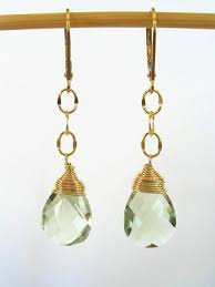 green amethyst earrings prasiolite green amethyst leverback earrings 14k gold filled