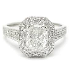 radiant cut halo engagement rings cut row engagement ring with halo rad105