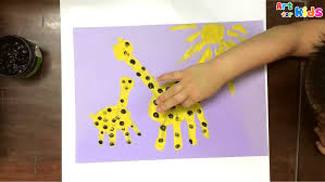 hand painting for kids how to draw a giraffe for kids painting