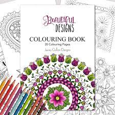 beautiful designs printable colouring book jenny gollan designs