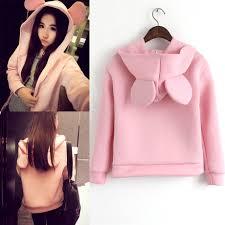cute jacket pattern 2016 autumn jacket women korean style solid cute mouse ear pattern