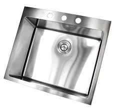 25 Inch Kitchen Sink 25 Inch Top Mount Drop In Stainless Steel Single Bowl Kitchen