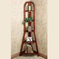 furniture antique tall corner carving wood shelves design idea