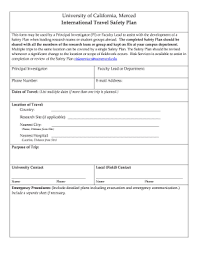 fillable free safety plan template edit online u0026 download