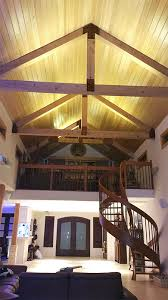 Lighting Vaulted Ceilings Ultra Warm White Led Strips Light Up The Vaulted Ceilings Of This