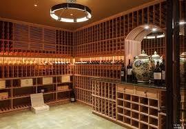Wine Cellar Chandelier Craftsman Wine Cellar With Built In Bookshelf Chandelier In