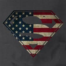 Flag In Computer American Flag In Superman Logo Shield T Shirt U2022 Dc Comics