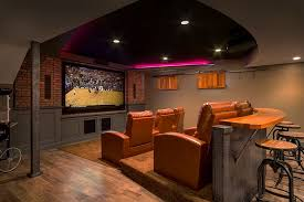Media Room Decor Pleasant Basement Home Theater Design And Concept Outdoor Room