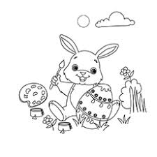 15 free printable easter bunny coloring pages