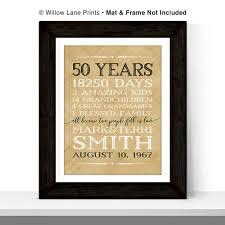 50 year wedding anniversary gift 50th anniversary gift for parents anniversary gift 50 year