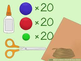 How To Make A Small by 3 Ways To Make A Small 3d Atom Model Wikihow