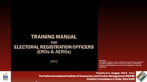 training manual for electoral registration officers eros u0026 aeros