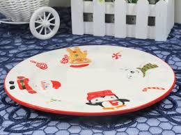 creative ceramic plates santa claus theme for home decor buytra