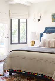 Guest Bedroom Bedding - a simple eclectic guest bedroom emily henderson