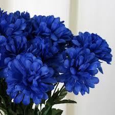 wedding flowers royal blue 84 silk chrysanthemum royal blue efavormart