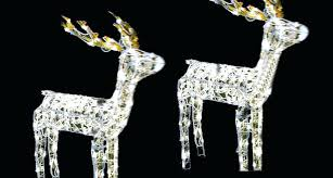 outdoor reindeer decorations animated lighted glistening