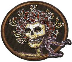 grateful dead skull and roses embroidered patch dyethesky com