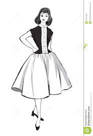stylish fashion dressed 1950s 1960s style stock photo