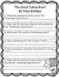thanksgiving books comprehension questions comprehension