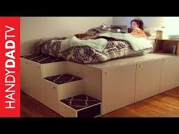 ikea kitchen cabinet storage bed ikea hack platform bed diy