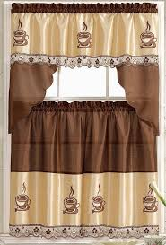 Coffee Themed Curtains 8 Adorable Coffee Themed Kitchen Curtains 40 00