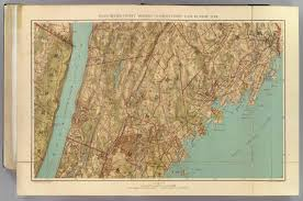 Yonkers New York Map by Westchester Co Yonkers State Line David Rumsey Historical Map