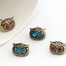 owl earrings vintage owl earrings