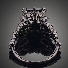 s wedding ring black rhodium plated princess wedding ring the copper rivet